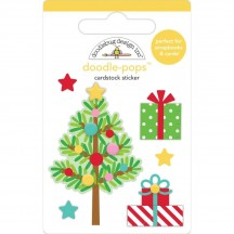 Doodlebug Christmas Magic Trim the Tree Doodle-Pops Dimensional Sticker 6459