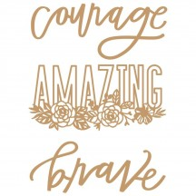 Prima Words to Live By 1 Laser Cut Chipboard Embellishments 647391