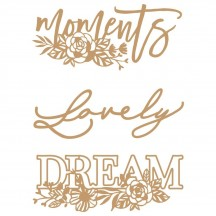 Prima Words to Live By 2 Laser Cut Chipboard Embellishments 647407