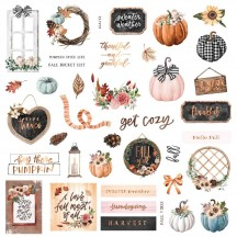 Prima Pumpkin and Spice Die-Cut Cardstock Ephemera 647834