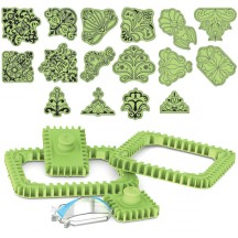 Inkadinkado Stamping Gear Deluxe Kit for Squares and Rectangles - 65-32046