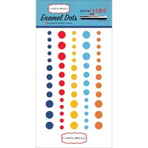 Carta Bella Let's Cruise Enamel Dots - navy, red, yellow, orange CBLC65028