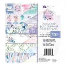 "Prima Watercolor Floral 6""x6"" Double-Sided Paper Pad 651435"