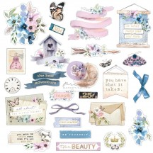 Prima Watercolor Floral Die-Cut Cardstock Ephemera 651473