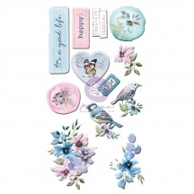 Prima Watercolor Floral Puffy Stickers 651497