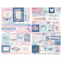 Prima Watercolor Floral Word & Quote Stickers 651541
