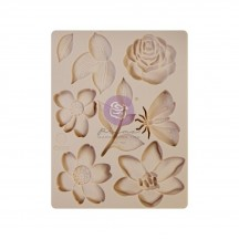 "Prima Watercolor Floral 3.5""x4.5"" Silicone Mould 651565"