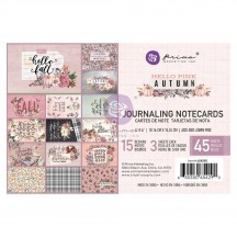 """Prima Hello Pink Autumn 4""""x6"""" Journaling Note Card Pad 654290"""