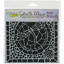 "The Crafters Workshop Gabrielle Pollacco Winged Mosaic 6""x6"" Template TCW656s"