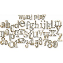 Sizzix Word Play Alphabet Bigz XL Die - Tim Holtz Alterations - 657837