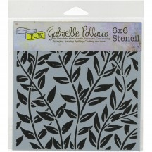 "The Crafters Workshop Gabrielle Pollacco Jungle Vines 6""x6"" Template TCW658s"