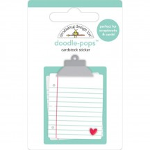 Doodlebug Love Notes Clipboard Doodle-Pops Dimensional Sticker 6582