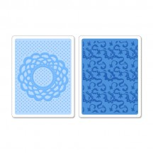 Sizzix Doily & Lace Set Textured Impressions Embossing Folders 658516