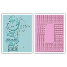 Sizzix Peace Set Textured Impressions Embossing Folders 658752