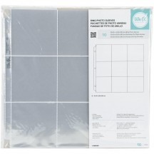 "We R Memory Keepers 4""x4"" Pocket 12""x12"" Album Refill Ring Page Protectors 660136"
