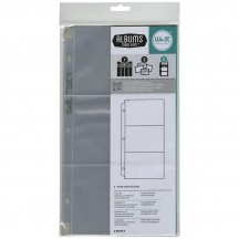 "We R Memory Keepers 6""x4"" Pocket 6""x12"" Album Refill Ring Page Protectors 660173"