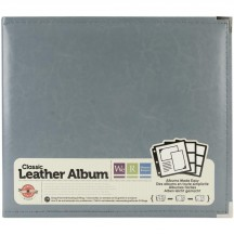 "We R Memory Keepers Charcoal D-Ring 12""x12"" Faux Leather Album & Accessories 660905"