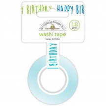 Doodlebug Party Time Happy Birthday Decorative Washi Tape 6617