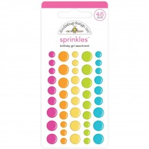 Doodlebug Hey Cupcake Birthday Girl Sprinkles Enamel Dots 6620