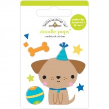 Doodlebug Party Time Yappy Birthday Doodle-Pops Dimensional Sticker 6643