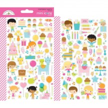 Doodlebug Hey Cupcake Mini Icons Cardstock Stickers 6644