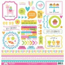 "Doodlebug Hey Cupcake This & That 12""x12"" Cardstock Stickers 6661"