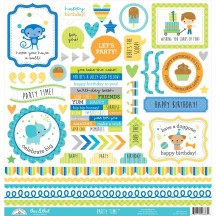 "Doodlebug Party Time This & That 12""x12"" Cardstock Stickers 6663"