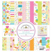 "Doodlebug Hey Cupcake 12""x12"" Paper Pack 6690"