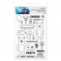 Ranger Simon Hurley Create Clear Stamp Set Bestest Friends HUR67221