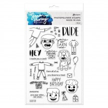 Ranger Simon Hurley Create Clear Stamp Set Dudes Too HUR67238