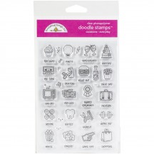 Doodlebug Everyday Occasions Doodle Stamps Clear Photopolymer Stamp Set 6729