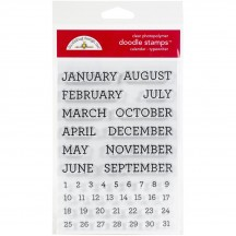 Doodlebug Calendar Typewriter Font Doodle Stamps Clear Photopolymer Stamp Set 6730