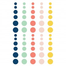 Simple Stories POSH Enamel Dots - blue, green, pink, yellow 6731