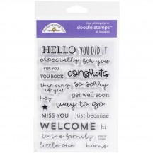 Doodlebug All Occasion Sentiment Doodle Stamps Clear Photopolymer Stamp Set 6735