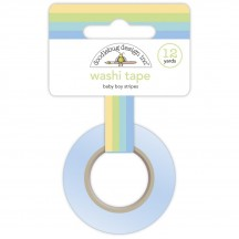 Doodlebug Special Delivery Baby Boy Stripes Decorative Washi Tape 6749