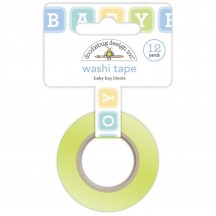 Doodlebug Special Delivery Baby Boy Blocks Decorative Washi Tape 6751