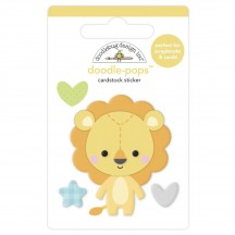 Doodlebug Special Delivery Loveable Lion Doodle-Pops Dimensional Sticker 6777
