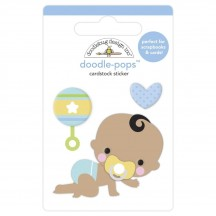 Doodlebug Special Delivery On the Move Doodle-Pops Dimensional Sticker 6778
