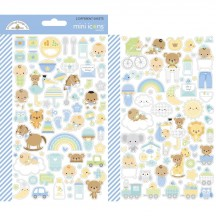 Doodlebug Special Delivery Mini Icons Cardstock Stickers 6789