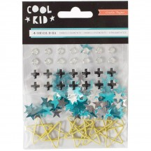 Crate Paper Cool Kid Mixed Embellishments 680487