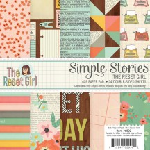 "Simple Stories The Reset Girl 6""x6"" Double-Sided Paper Pad 6822"