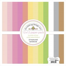 "Doodlebug Bundle of Joy Solid Textured 12""x12"" Cardstock Assortment 6855"