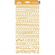 Doodlebug Design Tangerine Orange Sunshine Font Cardstock Alpha Stickers 6870