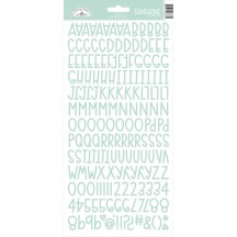Doodlebug Design Mint Sunshine Font Cardstock Alpha Stickers 6873