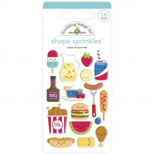 Doodlebug Bar-B-Cute Taste of Summer Sprinkles Enamel Shapes 6882