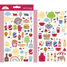 Doodlebug Bar-B-Cute Mini Icons Cardstock Stickers 6887