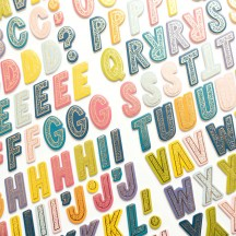 American Crafts Paige Evans Wonders Foam & Cardstock Alphabet Letter Thickers 34004825