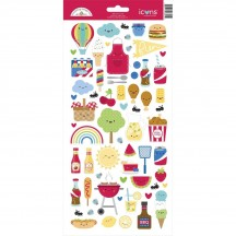 "Doodlebug Bar-B-Cute 6""x12"" Icons Cardstock Stickers 6891"