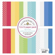 "Doodlebug Bar-B-Cute Petite Prints 12""x12"" Cardstock Assortment 6912"