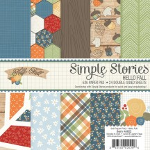 """Simple Stories Hello Fall 6""""x6"""" Double-Sided Paper Pad 6922"""